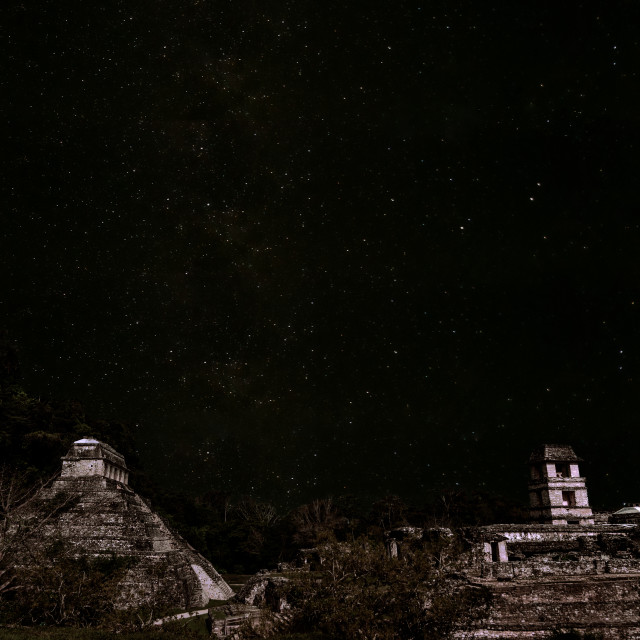 """Stars over Palenque"" stock image"