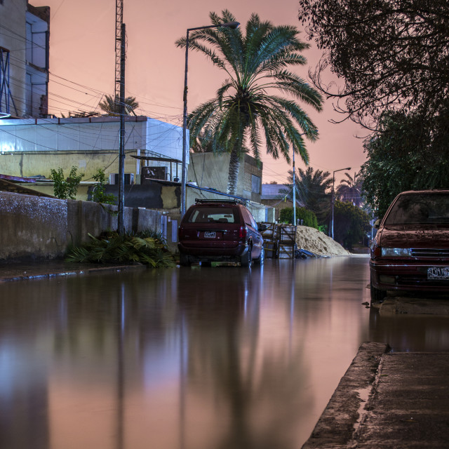"""Baghdad sinking with floodwaters"" stock image"