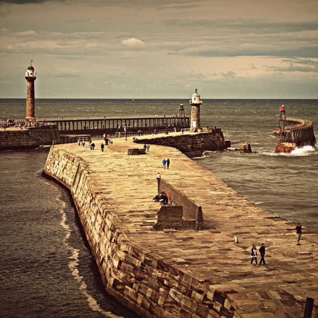 """Whitby Walls"" stock image"