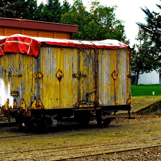 """""""Vintage Railway Freight wagon"""" stock image"""