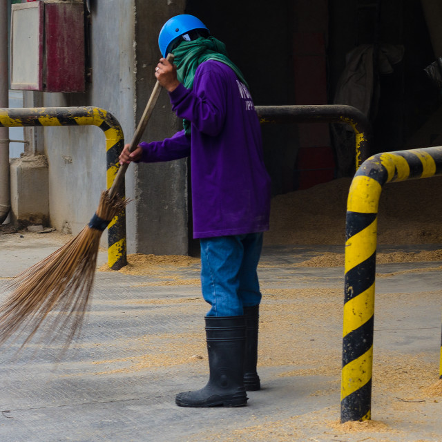 """Sweeping up"" stock image"