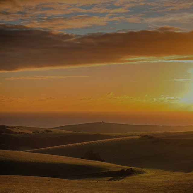 """South Downs Sunset"" stock image"