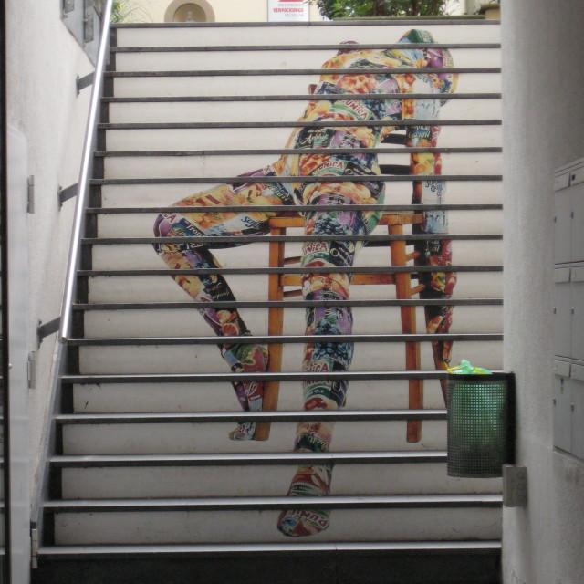 """Stair graffiti"" stock image"