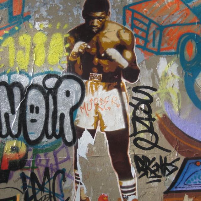 """""""Parisian graffiti"""" stock image"""