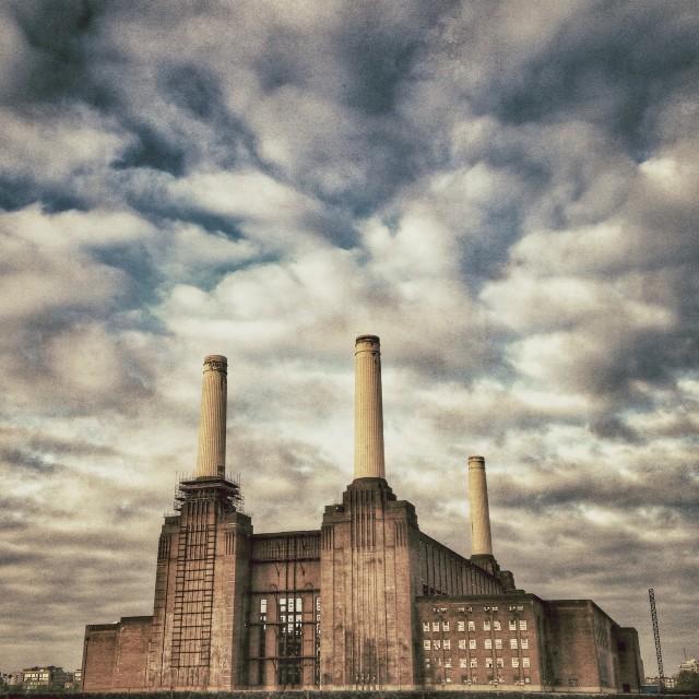 """Battersea Power Station 1"" stock image"