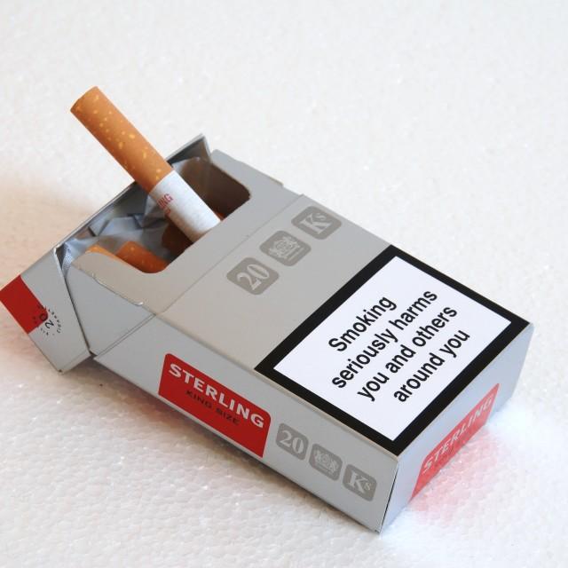 """Sterling cigarette packet"" stock image"