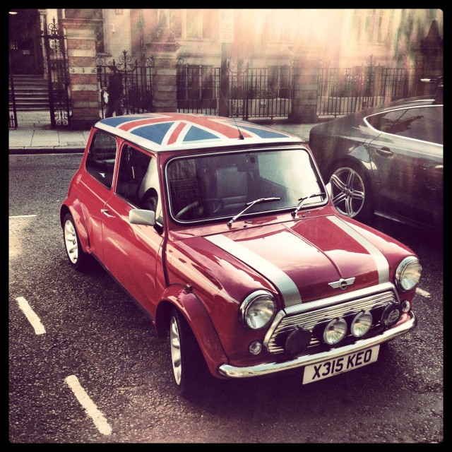 """Mini Cooper in London"" stock image"