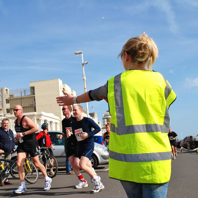 """Hastings Half Marathon"" stock image"