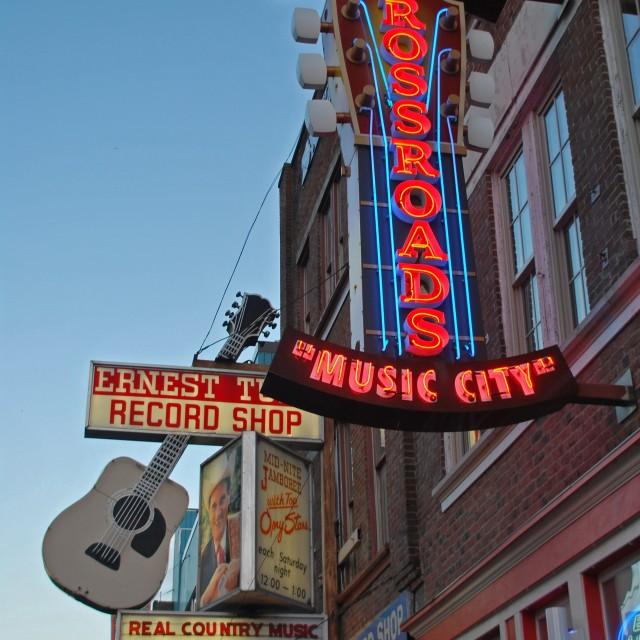 """""""Nashville, Music City"""" stock image"""