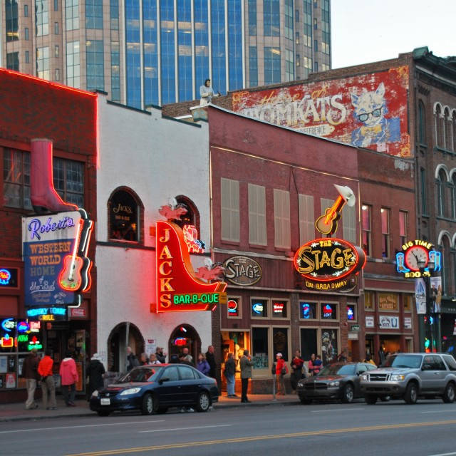 """Lower Broadway, Nashville"" stock image"