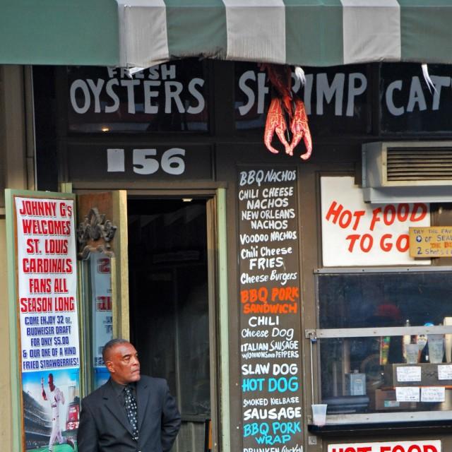 """Seafood, Memphis"" stock image"