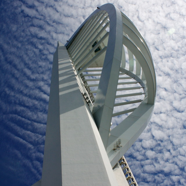 """Spinnaker Tower, Portsmouth"" stock image"