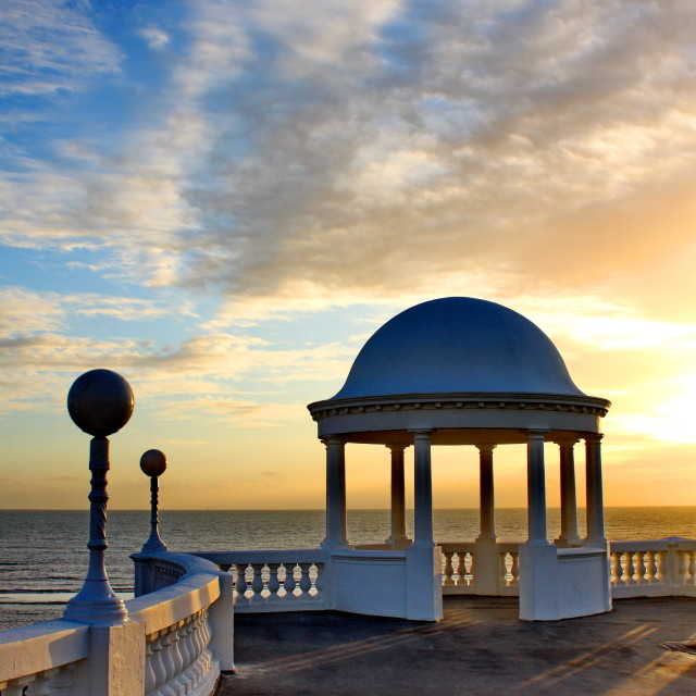 """The Colonnade, Bexhill"" stock image"