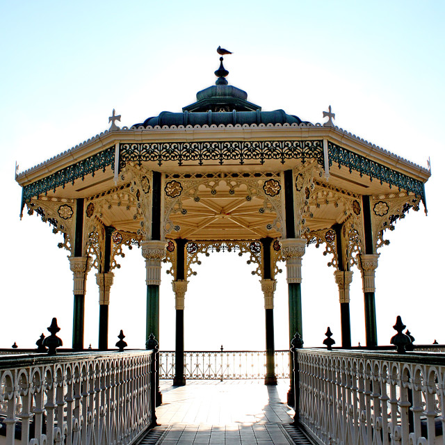 """Hove Bandstand"" stock image"