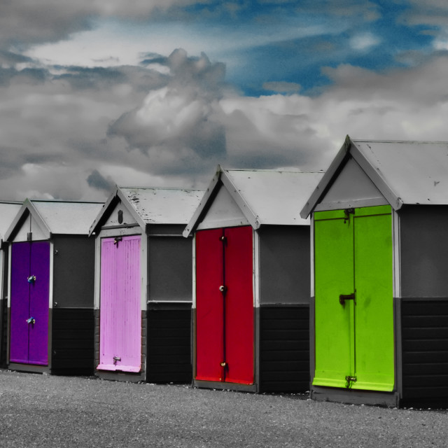 """Hove Beach Huts"" stock image"