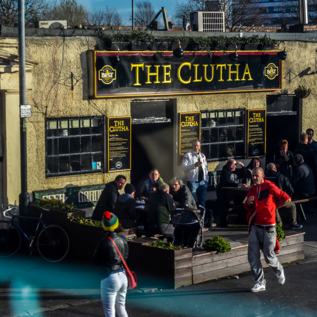 """The Clutha Vaults, Glasgow"" stock image"