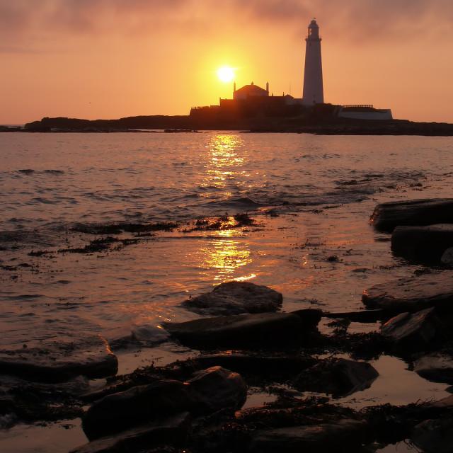 """""""Sunrise at St Marys"""" stock image"""