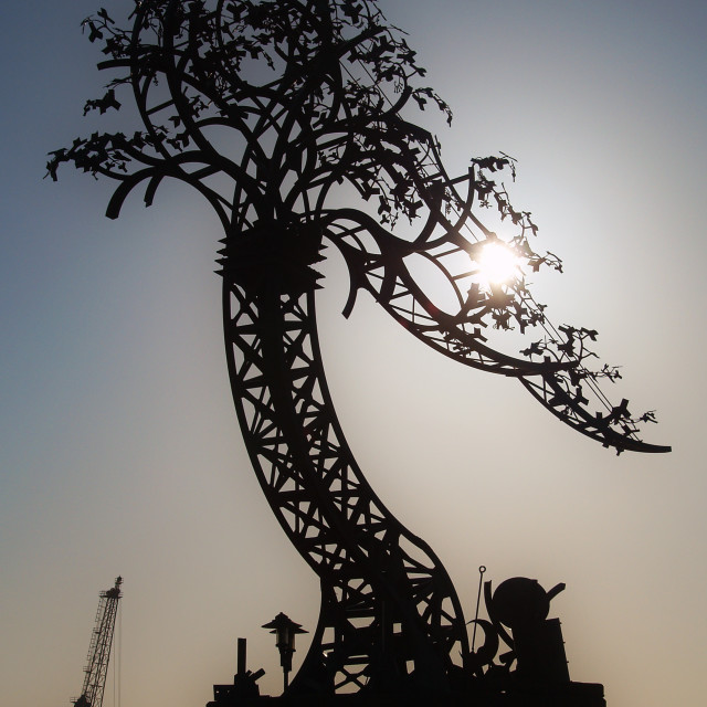 """Metal Tree at Roker"" stock image"