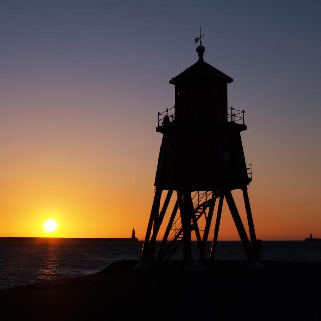 """Herd Lighthouse at Sunrise"" stock image"