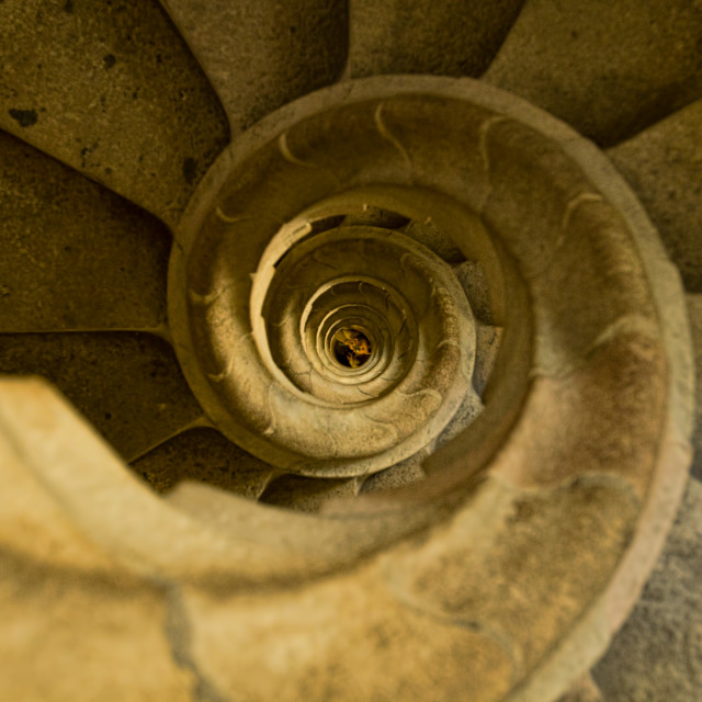 """Spiral stair"" stock image"