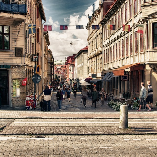 """Haga, Gothenburg"" stock image"
