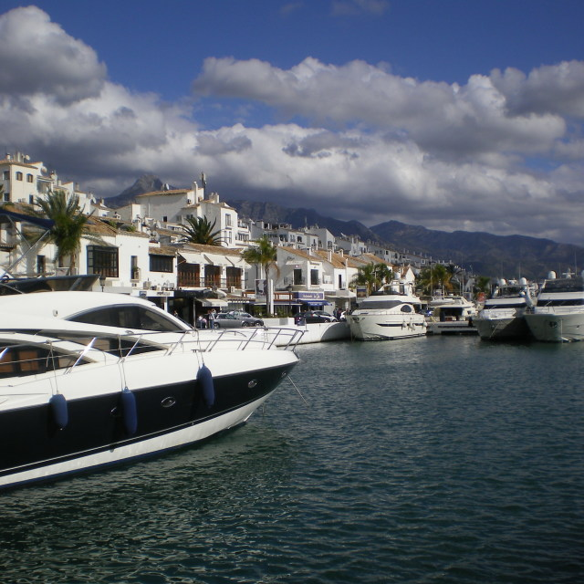 """Puerto Banus, Marbella"" stock image"
