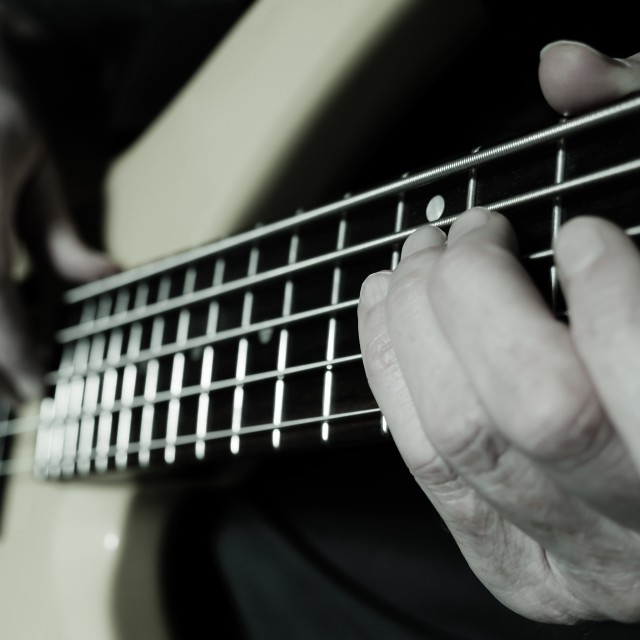 """Bass guitar jam"" stock image"