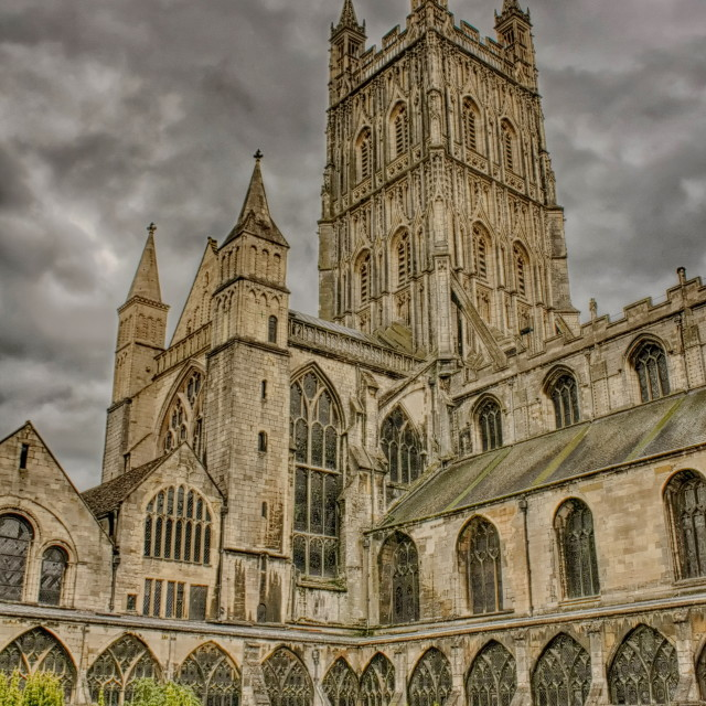 """Gloucester Cathedral"" stock image"
