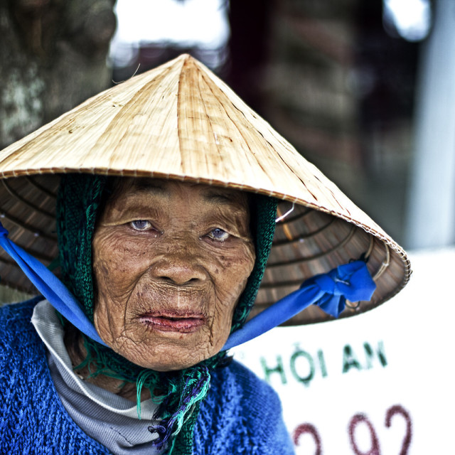 """Faces of Hoi An"" stock image"