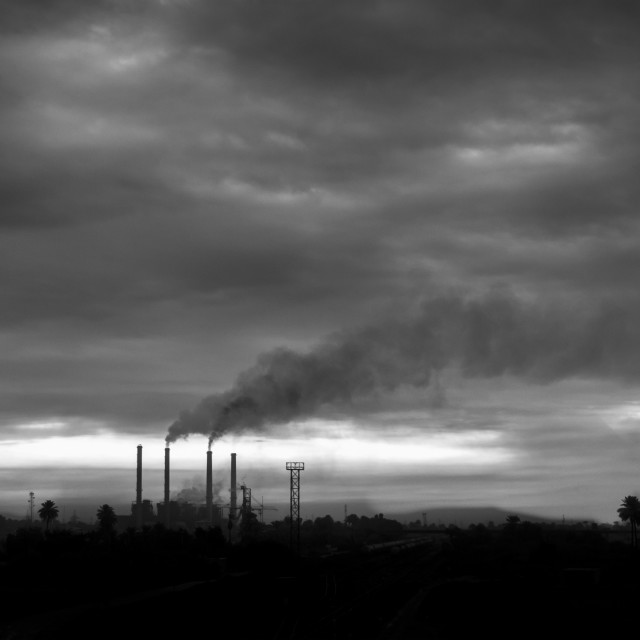 """Industrial Pollution"" stock image"