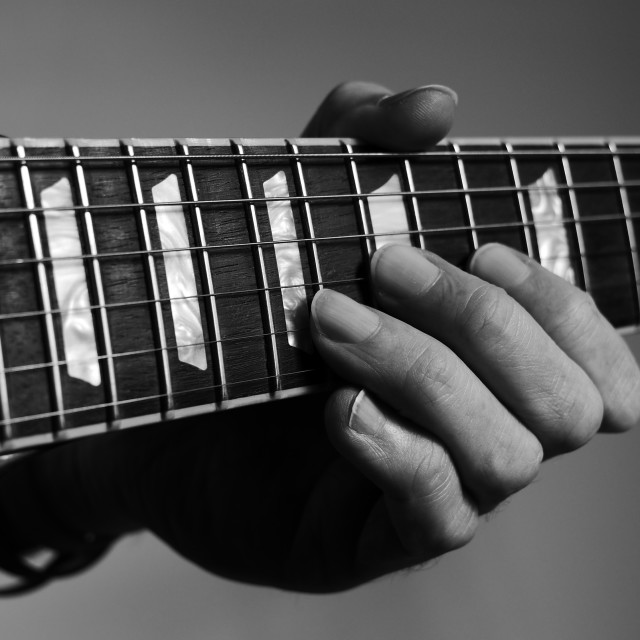 """Guitar lesson"" stock image"
