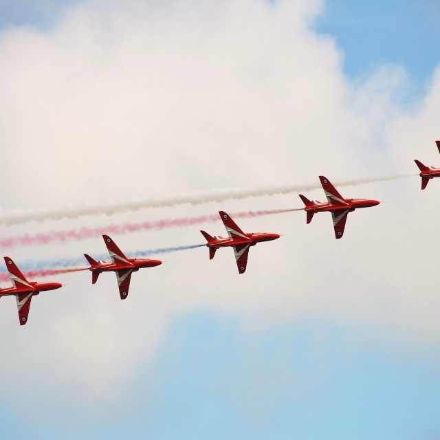 """The Red Arrows, Eastbourne"" stock image"