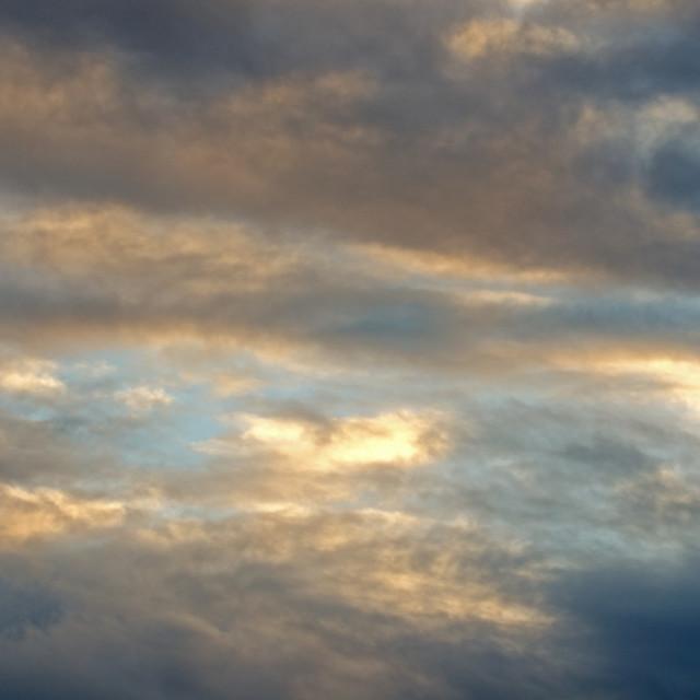 """""""Salton Sea Clouds"""" stock image"""