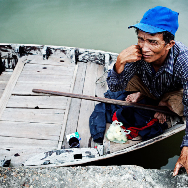"""Boatman"" stock image"