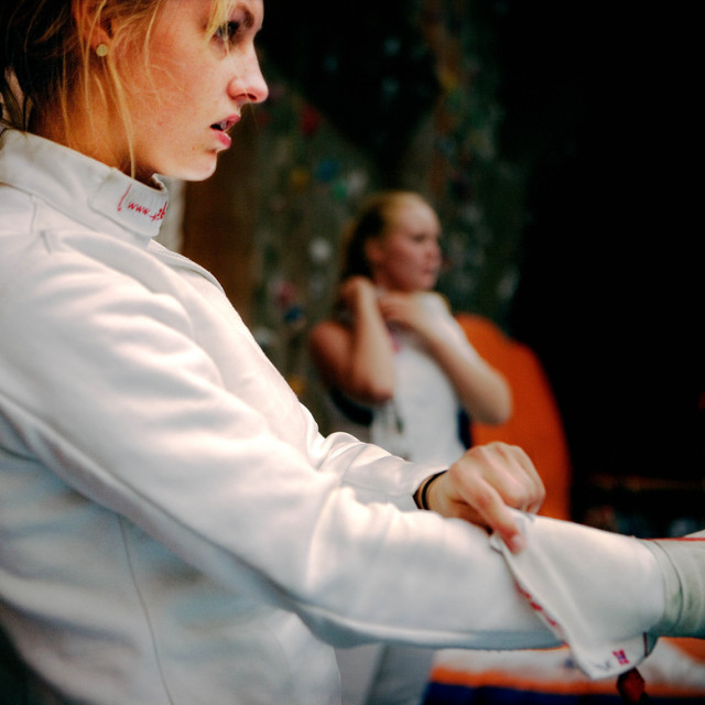"""Fencer Pia Klafstad"" stock image"
