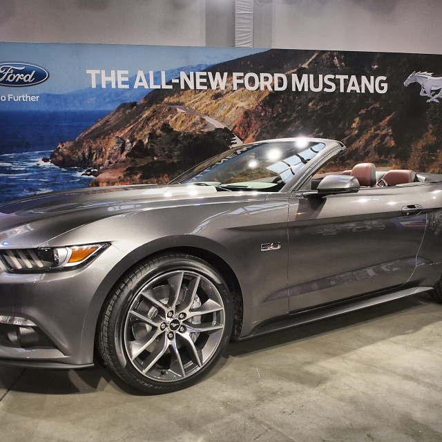 """2015 Ford Mustang Convertible"" stock image"
