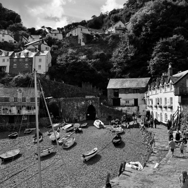"""""""Clovelly cove"""" stock image"""