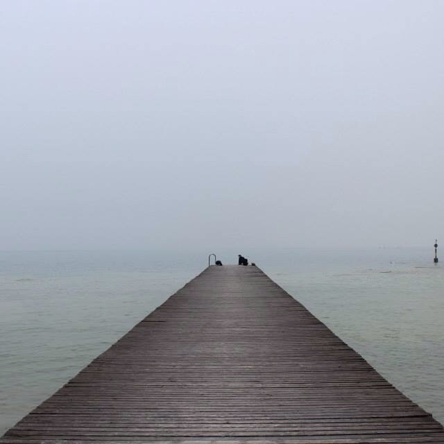 """Mist on Lake Garda"" stock image"