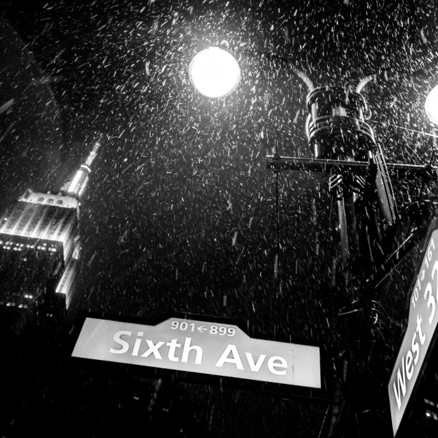"""""""Snow in NYC"""" stock image"""