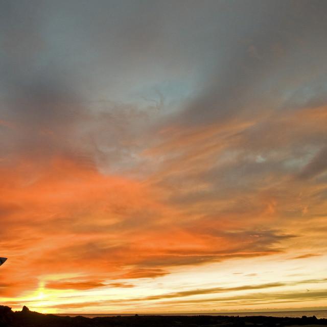 """Sunset Surfer 2"" stock image"