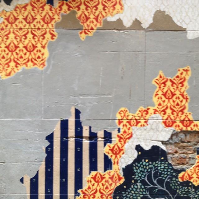 """Wallpaper Graffiti 01, Perth"" stock image"