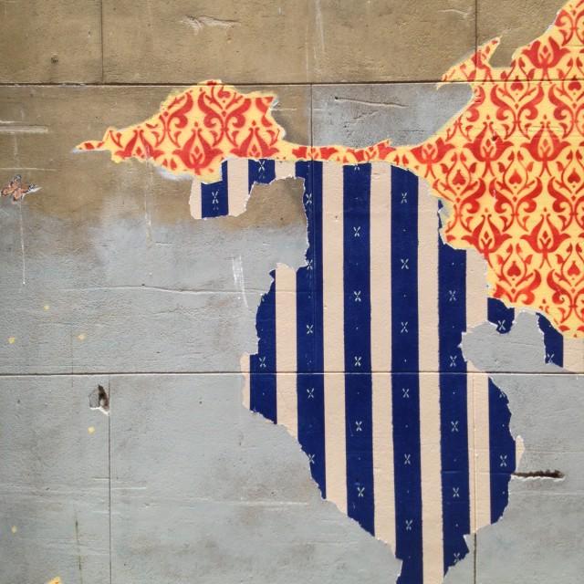 """Wallpaper Graffiti 02, Perth"" stock image"