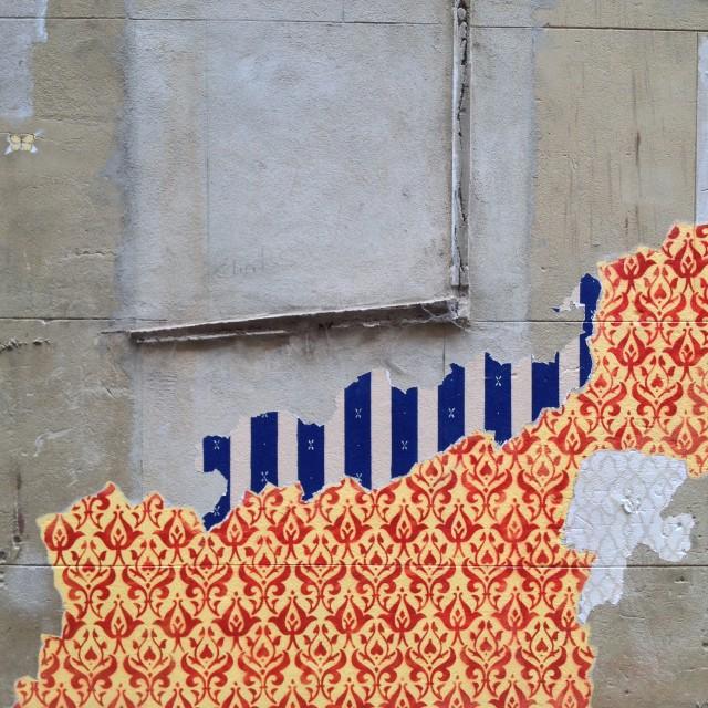 """Wallpaper Graffiti 04, Perth"" stock image"