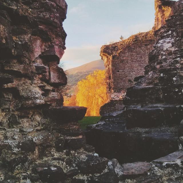 """""""Abergavenny Castle I"""" stock image"""