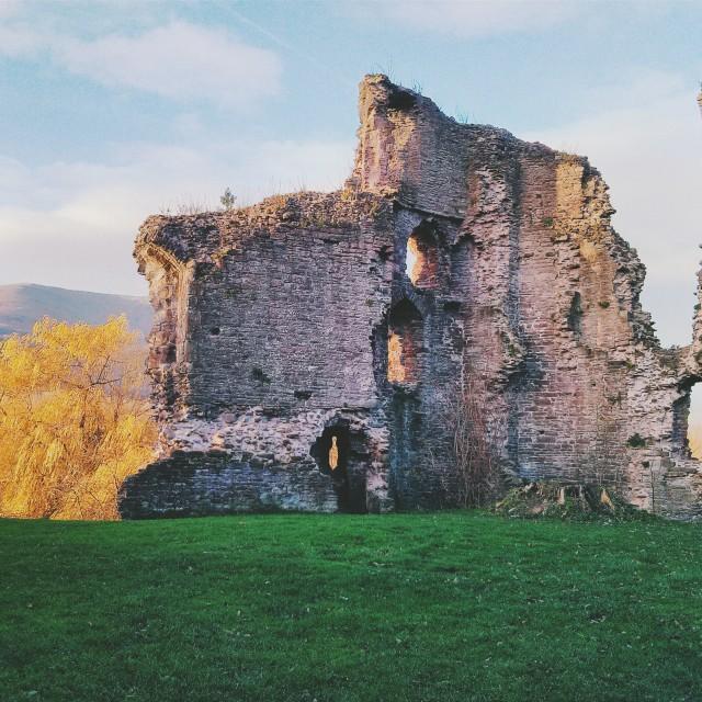 """Abergavenny Castle II"" stock image"