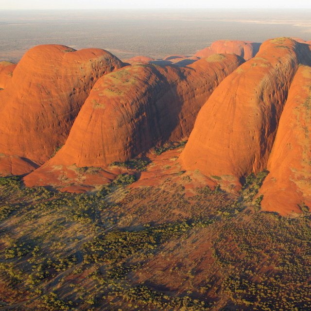 """The Olgas from the air"" stock image"