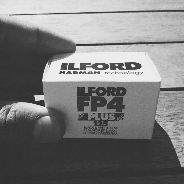 """Ilford FP4 plus"" stock image"