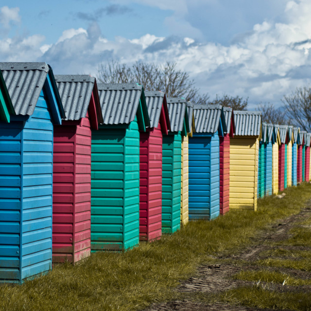 """Rainbow huts"" stock image"