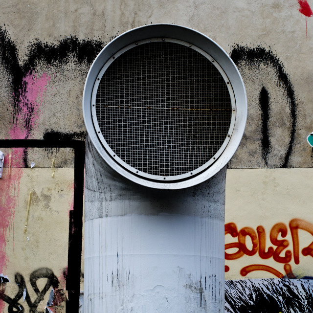 """Graffiti vent"" stock image"