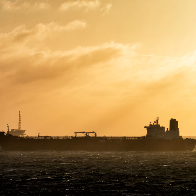 """North sea oilfields"" stock image"